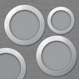 Metaal, aluminiumframes met plaats voor uw tekst Stock Afbeelding