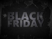 Metaal Black Friday royalty-vrije illustratie