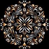 Metaal-brons patroon Stock Foto