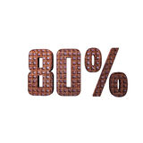 80% Metaal 3D Tekst Stock Foto