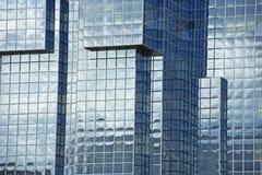 Metaal & de Glas op Uitgezien Bouw Stock Afbeelding