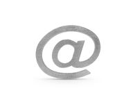 Metaal e-mailsymbool Stock Foto