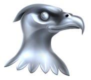 Metaal Eagle Head Concept Stock Fotografie