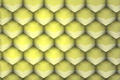 Metaal en geelachtige geometrische textuur Royalty-vrije Stock Foto