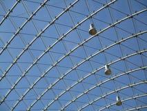 Metaal en glasstructuur Stock Afbeeldingen