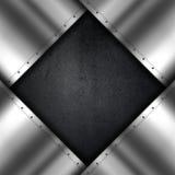 Metaal en grunge achtergrond Royalty-vrije Stock Fotografie