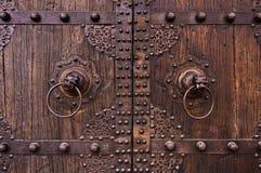 Metaal en houten oude Chinese deuren Royalty-vrije Stock Afbeelding