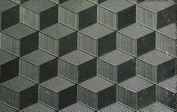 Metaal gegraveerde textuur met 3D effect Stock Foto