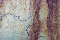 Metaal geroeste geschilderde oppervlakte als abstracte achtergrond Stock Afbeeldingen