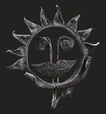 Metaal gesmede geïsoleerdee zonnebloem Royalty-vrije Stock Afbeelding