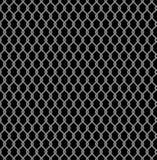 Metaal getelegrafeerd Omheinings naadloos die patroon op zwarte achtergrond wordt geïsoleerd Het Netwerk van de staaldraad Vector Royalty-vrije Stock Foto's
