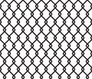 Metaal getelegrafeerd omheinings naadloos patroon royalty-vrije illustratie