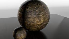 Metaal glanzende gebieden het 3d teruggeven stock illustratie