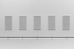 Metaal industriële panelen met ventilatietraliewerk Royalty-vrije Stock Foto