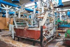 Metaal industrieel krachtig materiaal van de productieafdeling bij de machine-bouwende olieraffinage, chemische petrochemische st royalty-vrije stock foto's