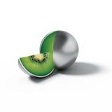 Metaal kiwifruit vector illustratie