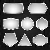 Metaal knopen pictogrammen Vector illustratie Stock Afbeelding