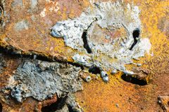 Metaal met een gasfornuis wordt gesneden dat abstracte achtergrond Industrie stock foto's