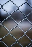 Metaal netto behandeld met rijp Stock Afbeelding