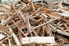 Metaal op bouwwerven Stock Afbeelding