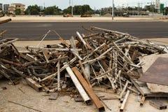 Metaal op bouwwerven Stock Foto