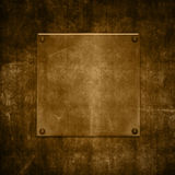 Metaal op grunge Royalty-vrije Stock Afbeeldingen