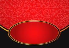 Metaal rode achtergrond Stock Foto's