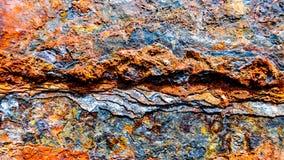 Metaal, roest, corrosie, vat, container stock foto