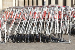 Metaal strret barricades stock fotografie