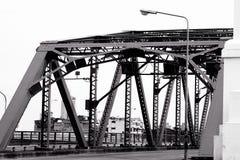Metaal structureel van brugdetail Royalty-vrije Stock Fotografie