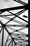 Metaal structureel van brugdetail Stock Foto's