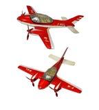 Metaal stuk speelgoed vliegtuig Stock Afbeeldingen