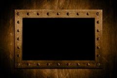 Metaal Vastgebout frame royalty-vrije stock foto's