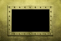 Metaal Vastgebout frame royalty-vrije stock afbeeldingen