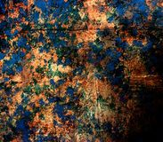Metaal veelkleurige textuur Royalty-vrije Stock Afbeelding