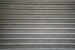 Metaal witte bestrating met horizontale strepen als a Royalty-vrije Stock Foto