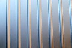 Metaal Zilveren de Textuurachtergrond van de Strepenreis suitcasestock foto