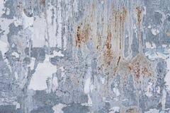 Metaalachtergrond met roest en afficheschroot Stock Foto's