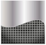 Metaalachtergrond opgepoetste staaltextuur, vector Royalty-vrije Stock Foto's