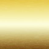 Metaalachtergrond, textuur van geborstelde gouden plaat Royalty-vrije Stock Afbeelding