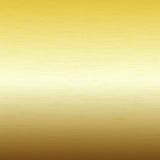 Metaalachtergrond, textuur van geborstelde gouden plaat Stock Fotografie