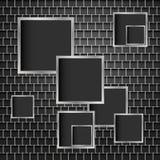Metaalachtergrond van vierkanten Stock Foto's