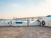 Metaalbeeldhouwwerken in Busan die het Internationale de Filmfestival bevorderen van Busan Stock Foto