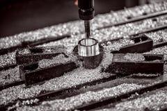 Metaalbewerkende CNC malenmachine Royalty-vrije Stock Afbeeldingen