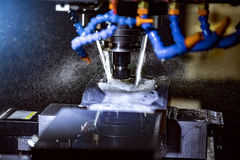 Metaalbewerkende CNC malenmachine Royalty-vrije Stock Fotografie