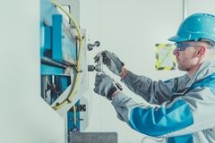 Metaalbewerkende Ingenieur Job stock foto's