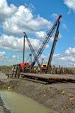 Metaalbewerking voor bouw van wegstructuur Stock Fotografie