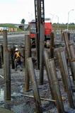 Metaalbewerking voor bouw van wegstructuur Stock Foto
