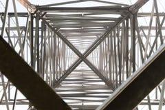 Metaalbouw van steun met hoog voltage royalty-vrije stock foto's