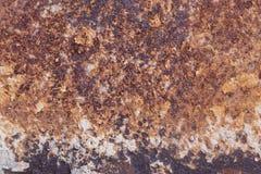Metaalcorrosie - de achtergrond van de roesttextuur Stock Fotografie
